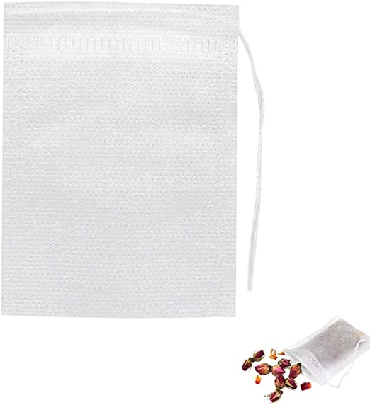 Tea Bags Empty Paper Tea Filter Bags Disposable Infuser with Drawstring 25 pcs