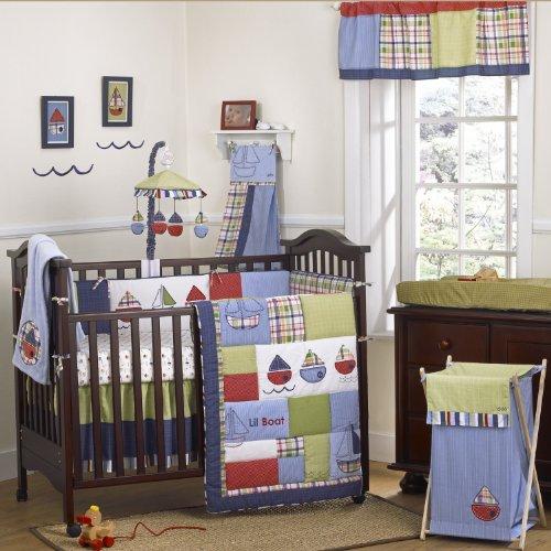 (CoCalo Tug Boat Nursery Collection 6-Piece Crib Bedding)
