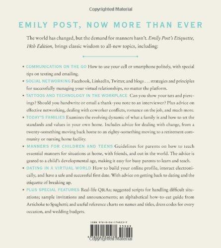 Emily Post's Etiquette, 18th Edition (Emily Post's Etiquette)
