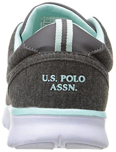 Us Polo Assn. Kvinnor Kvinna Maxine9 Mode Sneaker Mörkgrå / Mint