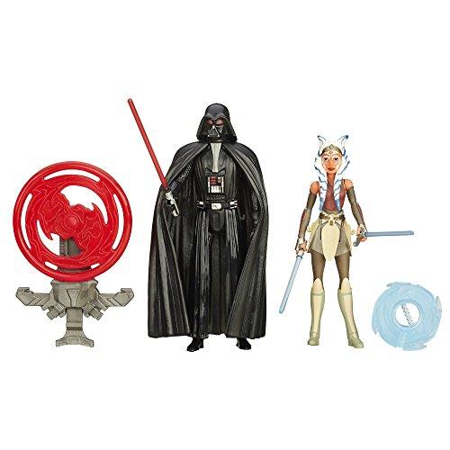 Star Wars Rebels 9,5cm Espace Mission Dark Vador et Ahsoka Tano Figure (lot de 2)