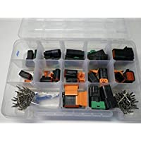 DEUTSCH DT CONNECTOR KIT BLACK OEM 209 PIECE KIT WITH STAMPED TERMINALS + REMOVAL TOOLS, MALE & FEMALE. Order by 3PM EST shipped that day