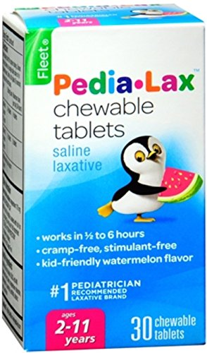 Fleet Pedia-Lax Chewable Tablets Watermelon Flavor 30 Tablets (Pack of -