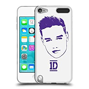 Official One Direction 1D Liam Purple Graphic Faces Soft Gel Back Case Cover for Apple iPod Touch 5G 5th Gen 6G 6th Gen
