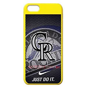 Lmf DIY phone caseMLB Colorado Rockies iphone 5/5s Hard Cover Case-Nike Just Do ItLmf DIY phone case