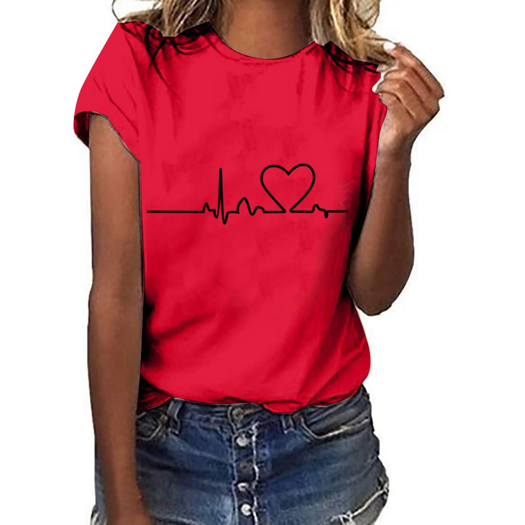 VEZAD Big Lips Embroidered Top Short Sleeve T-Shirt Women Fashion Sequins White Casual Blouse