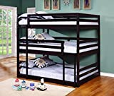Coaster Home Sandler Cappuccino Three-Bed Bunk Bed Cappuccino/Transitional