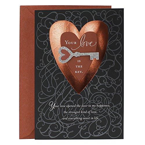Love Gift Card (Hallmark Mahogany Valentine's Day Greeting Card for Romantic Partner (Heart and Key))