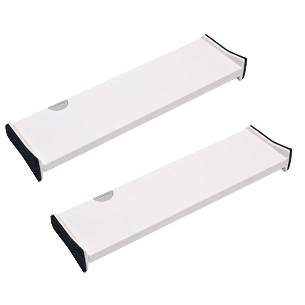ECVISION Adjustable Expandable Drawer Dividers,White,Pack of 2 (Large(14.7