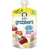 Gerber Graduates Grabbers Pouch, Fruit and Yogurt Strawberry Banana, 4.23 Oz