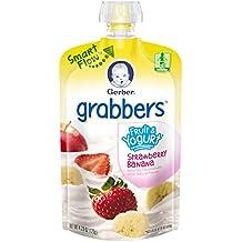 Gerber Graduates Grabbers, Fruit and Yogurt Strawberry Banana, 4.23 Ounce (Pack of 12)