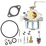 snowblower carburetor repair kit - Hilom 640152 Carburetor with 632347 Rebuild Repair Kit for Tecumseh 640260 640260A 640260B 640023 640051 640140 640152A HM80 HM90 HM100 Carb Snow blower Oregon 50-655 Rotary 13154 8-10 HP Engines