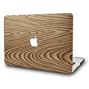 KEC MacBook Pro 15 Inch Case 2017 & 2016 Touch Bar, Cover Plastic Hard Shell Rubberized A1707 (Pine Wood 1)