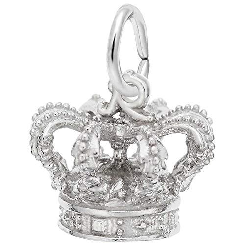 Rembrandt Charms Crown Charm, 14K White - Gold 14k Crown Charm White