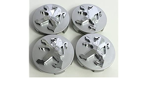 Juego de 4 emblemas Peugeot de 60 mm para llantas: Amazon.es: Coche y moto
