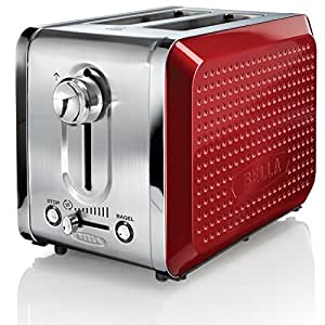 BELLA 13701 Dots Collection 2-Slice Toaster, Red