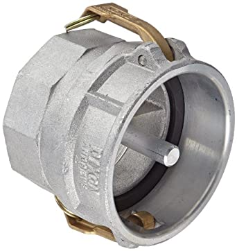 "Dixon 400-DVR-AL Aluminum Cam and Groove Hose Fitting, Vapor Recovery Coupler with Probe, 4"" Socket x 4"" NPT Female"