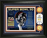 NFL Denver Broncos Denver Broncos Super Bowl 50 Bronze Coin Photo Mint, Brown