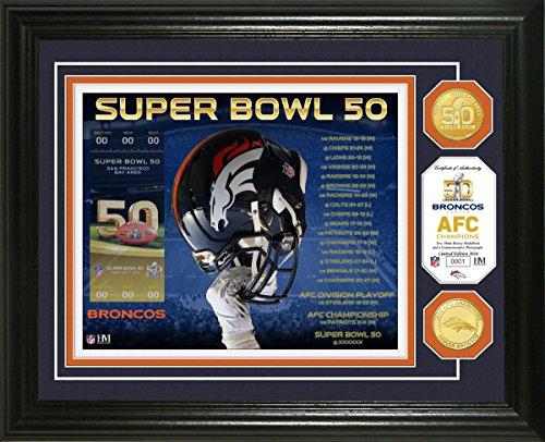 (NFL Denver Broncos Denver Broncos Super Bowl 50 Bronze Coin Photo Mint, Brown )