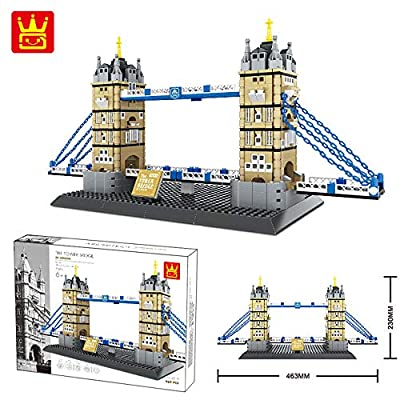 WANGE The Tower Bridge of LODON-England Mini Model Building Blocks Bricks STEM Enginering Toy: Toys & Games