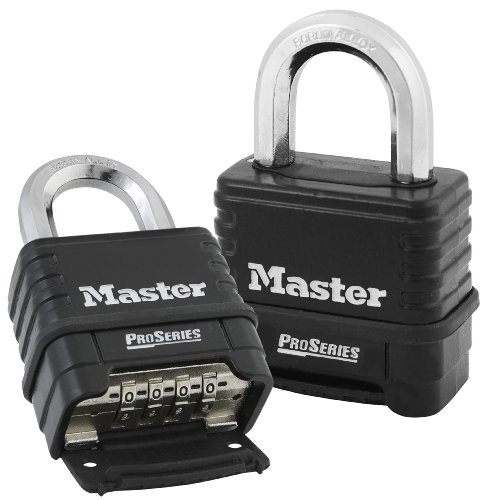 Outdoor Zinc MASTER LOCK Heavy Duty Padlock Best Used for Storage Units Sheds M175EURDLH Combination XLong Shackle Trailers and More Garages