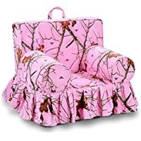 Kangaroo Trading Addison Skirted GrabNGo Chair Mossy Oak Lifestyle Pink Childrens