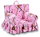 Kangaroo Trading Addison Skirted Grab'N'Go Chair Mossy Oak Lifestyle Pink Childrens