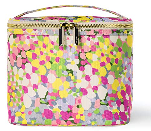 Kate Spade New York Insulated Soft Cooler Lunch Tote with Double Zipper Close and Carrying Handle, Floral Dot