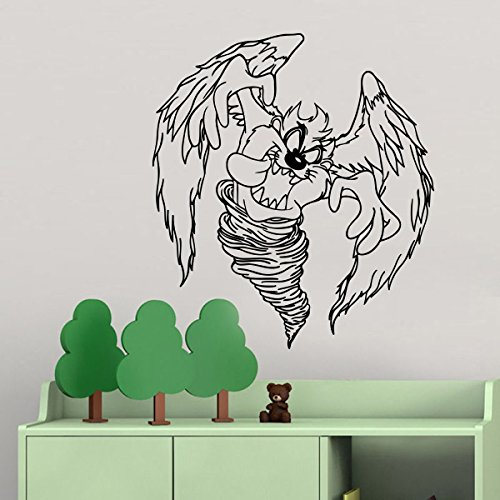 Cartoon Vinyl Wall Decal Tasmanian Devil with Wings