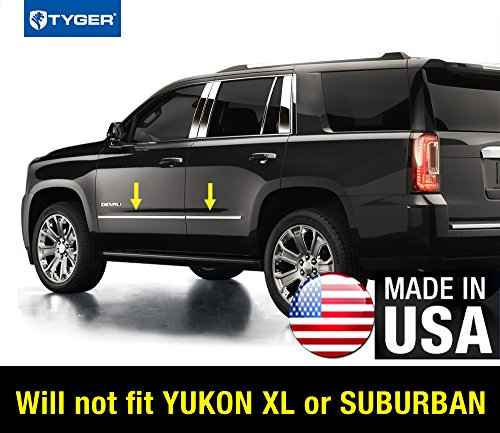 Made In USA! 2015-2017 Chevy Tahoe GMC Yukon Factory Style Body Side Molding Trim 4PC (Chevy Pillar Side)