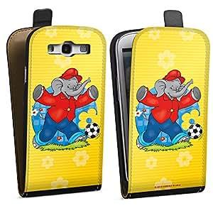 Diseño para Samsung Galaxy S3 i9300 / LTE i9305 DesignTasche black - Benjamin Blümchen - Fussballstar