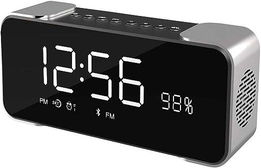 AMTBBK Altavoz Estéreo Inalámbrico con Radio Despertador Portátil ...