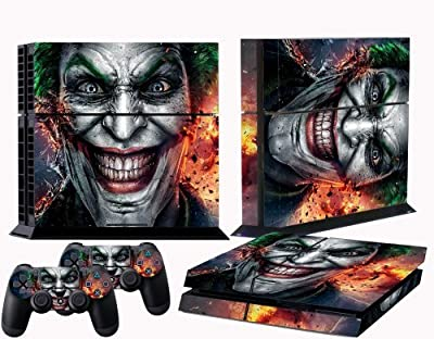 PS4 skin joker vinyl decal cover for Sony playstation 4 n two controllers from Kushina Shop