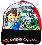 Go Diego Go Hat | Boys Baseball Cap - Black Shield/red | Offical Licensed