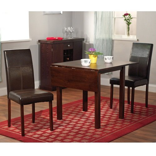 Simple Living Bettega Drop Leaf 3-piece Dining Set Dark Brown