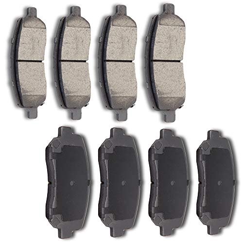 AUTOMUTO Ceramic Discs Brake Pads Kits, Front Rear 8pcs Disc Brakes Pads Set fit for 2013 2014 2015 2016 Dodge - Dodge Dart Set