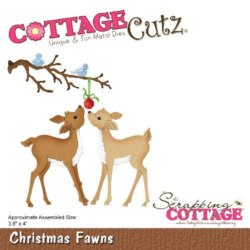 CottageCutz Die Christmas Fawns 3.8