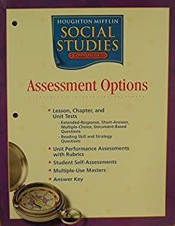 Amazon houghton mifflin social studies assessment options houghton mifflin social studies assessment options blackline masters grade 3 communities fandeluxe Image collections