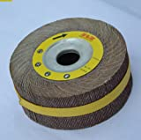 Premium FLAP WHEEL 6'' x 2'' with 1'' bore Unmounted 60 grit