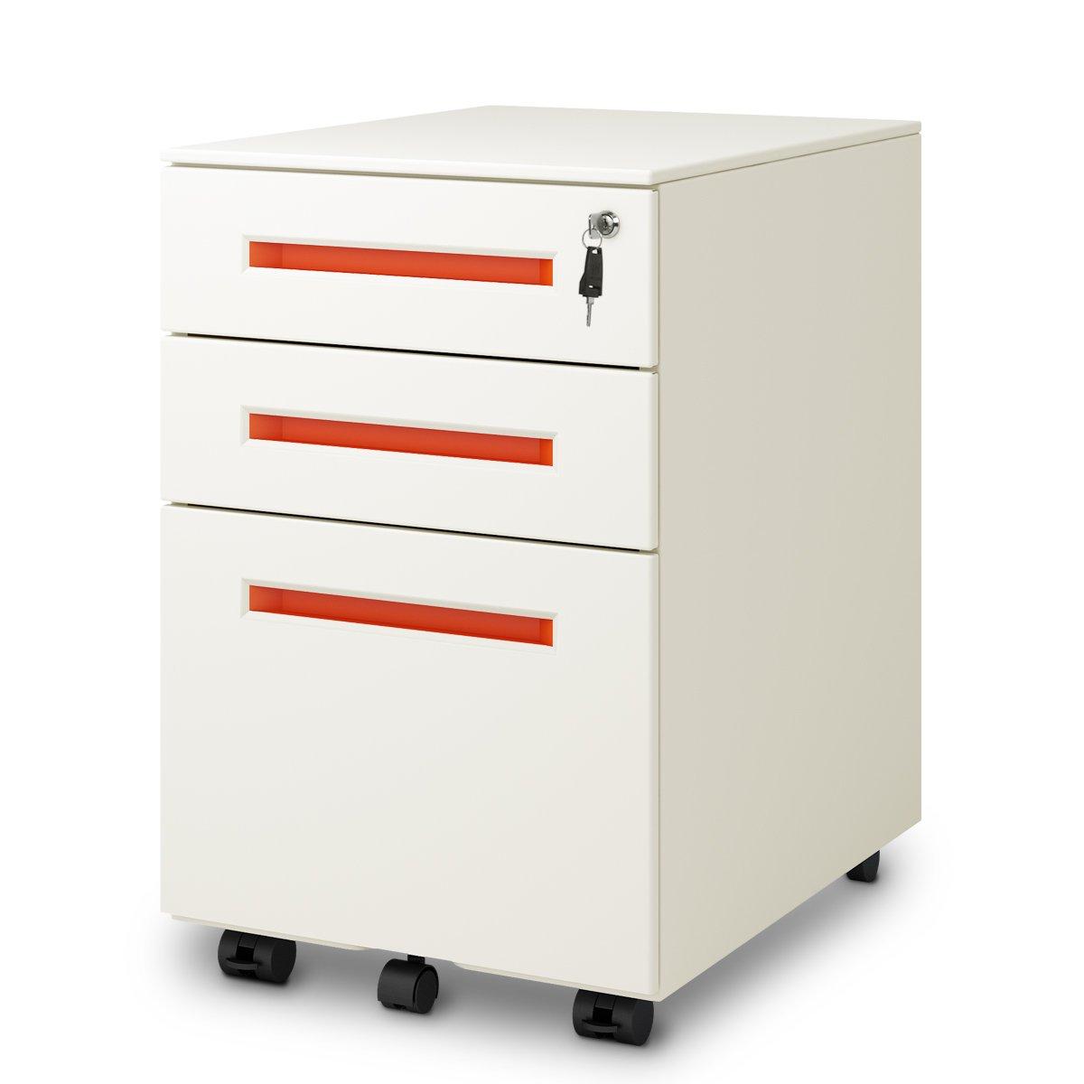 DEVAISE - Archivador de pedestal con 3 cajones (tamaño legal/carta): Amazon.es: Oficina y papelería