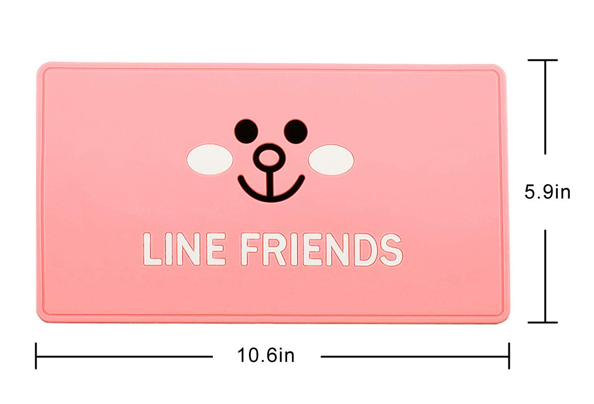 Sunglasses Keys Coins and More Tianmei 10.6 x 5.9 Extra Large Size Anti-Slip Rubber Pad Car Dashboard Universal Non-Slip Mat Use for Cell Phones Pink Rabbit