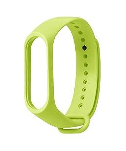 Erduo Pulsera de Correa de muñeca de Color sólido de TPE con Accesorios Inteligentes más rápidos y Seguros para el reemplazo de la Pulsera de la Banda 3 de Xiaomi - Verde Fluorescente