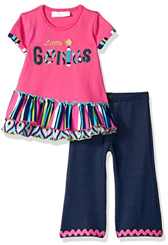 Bonnie Baby Baby Girls Holiday Dresses and Legging Sets, Little Genius, 24M