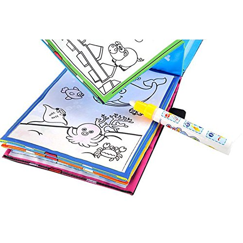 Ghazzi Magic Water Drawing Book Developmental Intelligence Toy for Kids Puzzle Educational Learning Toy Growing Experiment Gift Toy Pretend Toy Toddlers Toy -