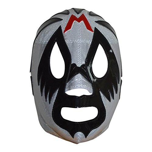 Deportes Martinez Mil Mascaras Semi-Professional Lucha Libre Mask Adult Luchador Mask Silver -
