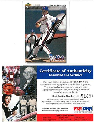 Dwight Gooden Signed 1992 Upper Deck Autographed Baseball...