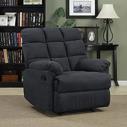 Prolounger Wall Hugger Microfiber Biscuit Back Recliner - Gray - Living  Room Furniture - Comfortable Chair - Perfect for Home Theater and Media  Rooms ...