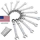 1PC Ratchet Spanner Combi Flexi Metric Flexible 8-19mm Ratchet Wrench Sets US