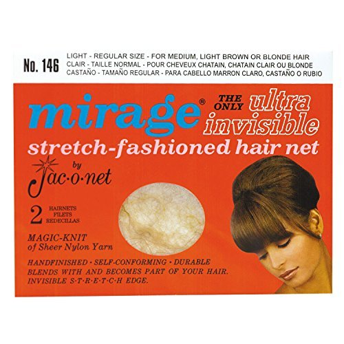 Jac-O-Net Mirage Ultra Invisible Light Hair Net #146 Light (Hair Nets Mirage)