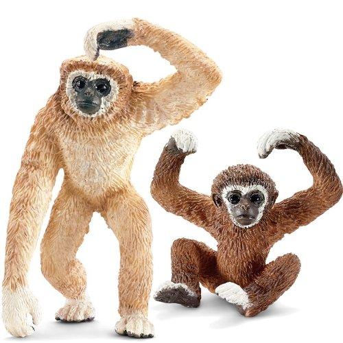 Schleich kt-20237 Gibbonfamilie - 14717, 14718 (2teilig) [Spielzeug] [Spielzeug]